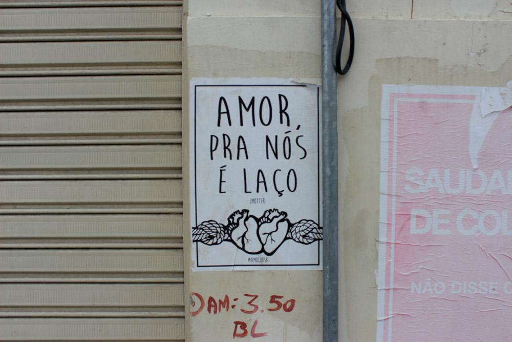 Amor, para nós é laço.