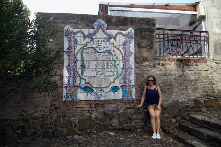 Mapa em azulejo