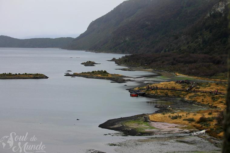 Topo da trilha pelo Parque Nacional Tierra del Fuego