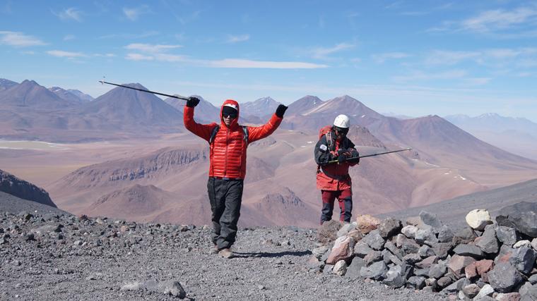 Chegada na Cratera do vulcão Lascar