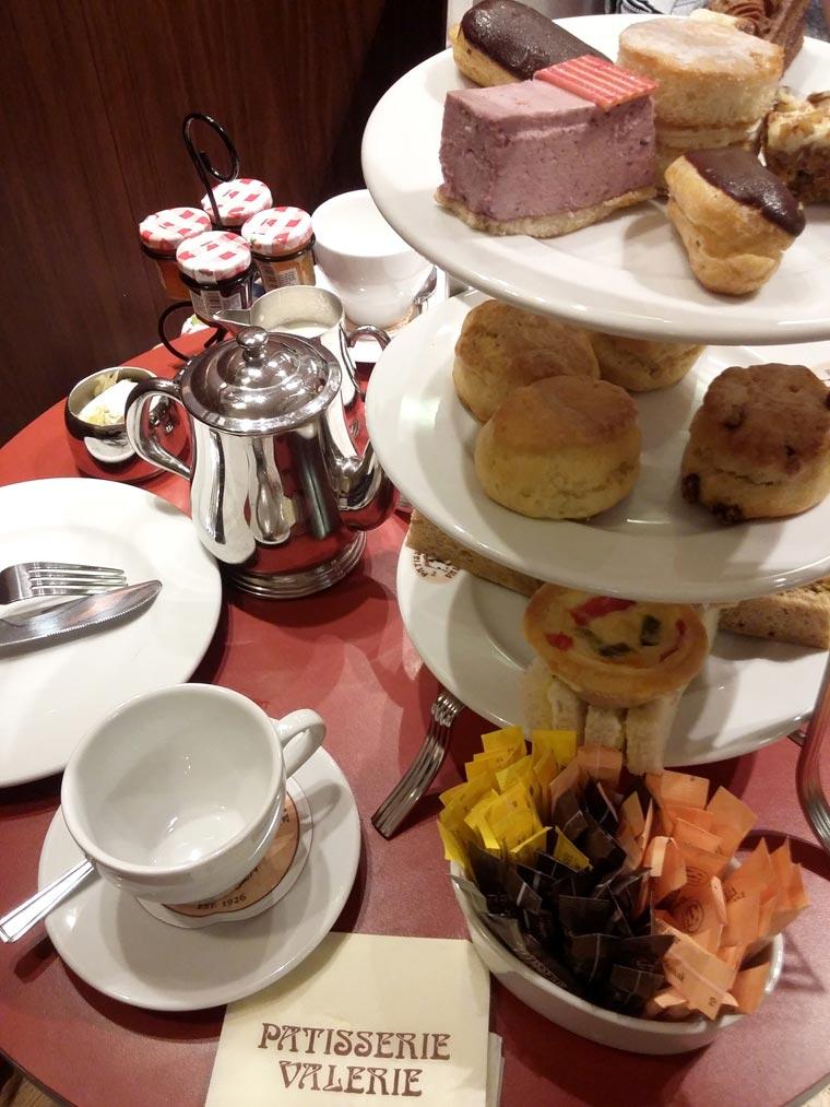 Chá das 5, na Patisserie Valerie