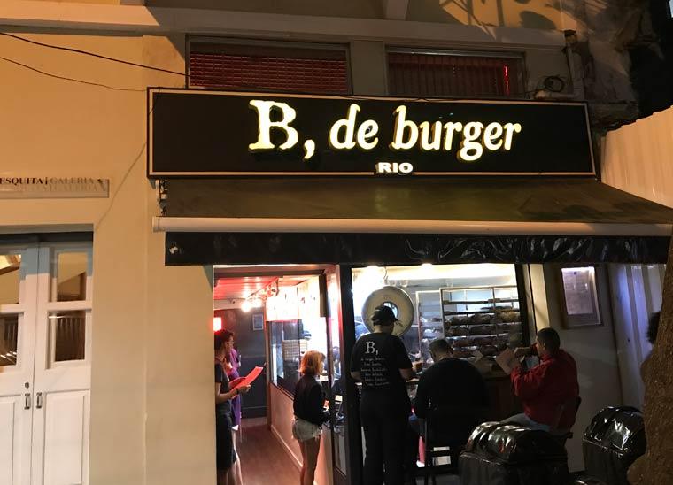 Fachada do B, de burger