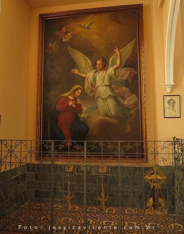 """Quadro """"Anunciação à Virgem Maria"""""""