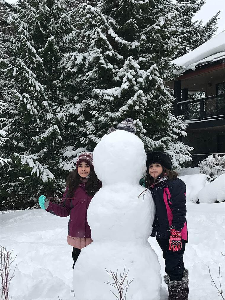 Construindo o boneco de neve