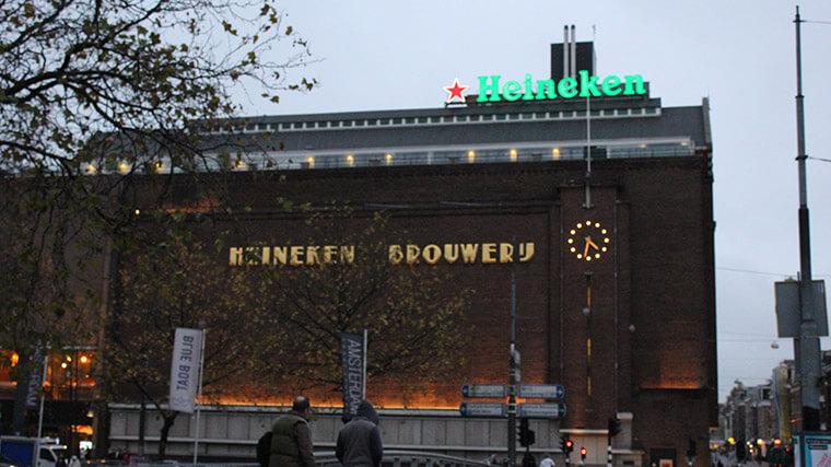 A primeira fábrica da Heineken, hoje abriga o museu da empresa.