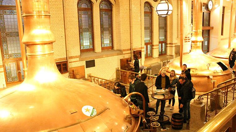 As caldeiras ondem era produzida a cerveja