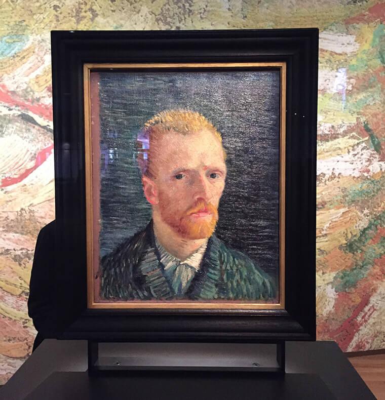 Um dos famosos autorretratos de Van Gogh