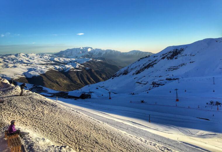 Não perca a oportunidade de assistir um lindo pôr do sol nos Andes